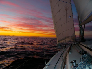 Sailing towards Cape Town, South Africa