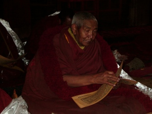 Buddhist monk in Tibet
