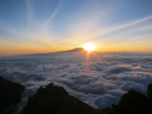 Kilimanjaro at sunrise from Mount Meru-Arusha, Tanzania