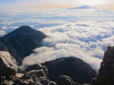 Kilimanjaro from Mount Meru's summit-Arusha, Tanzania