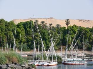 Feluccas-Aswan, Egypt