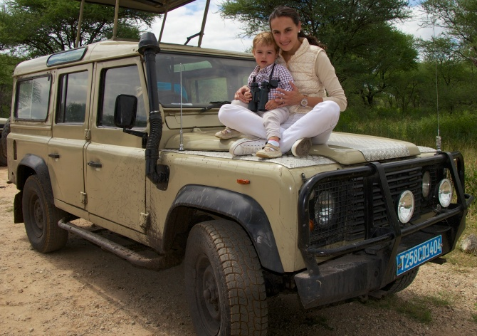 De safari en nuestro Land Rover, Tarangire