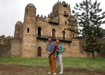 Con papás en Gondar, Etiopía