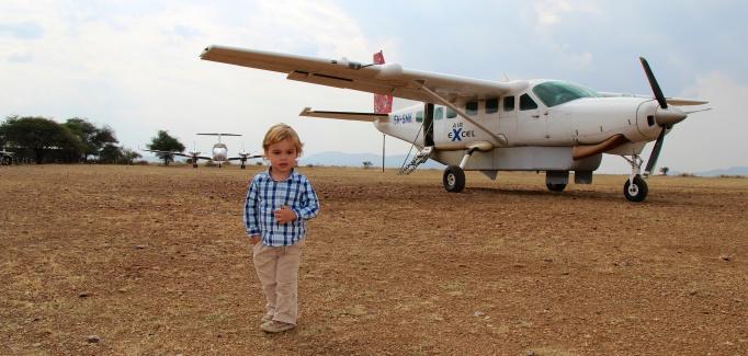 Aterrizando en el Serengeti