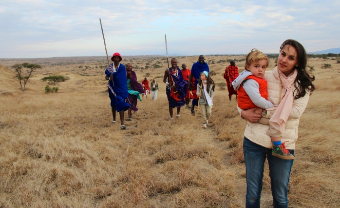 Walking safari con maasai