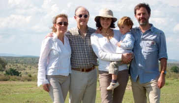 Con la familia en el rio Mara-Serengeti