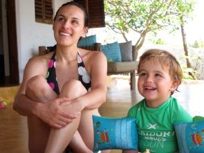 Con mamá en Matemwe Beach House-Zanzibar